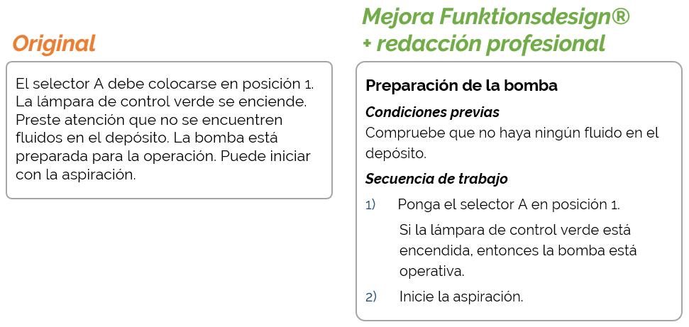 Mejorar un texto con Funktionsdesign
